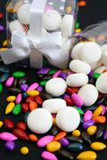 PVC Box with Sweets - stock photo