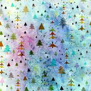 Christmas Background with winter woods - stock illustration
