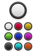 Blank black buttons Stock Illustration