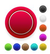 circle colorful blank buttons - stock illustration