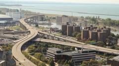 Time lapse Buffalo Skyway Stock Footage