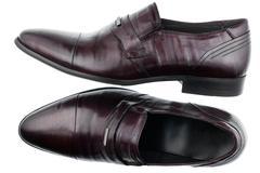Classic men's brown  shoes Stock Photos