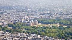 Panorama of city Paris Stock Footage