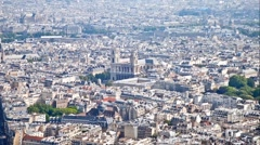Panorama of city Paris - stock footage