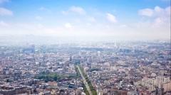 Panorama of city Paris - stock footage
