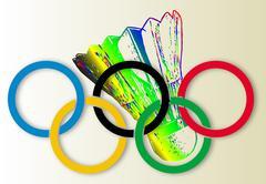 Olympic Badminton Piirros
