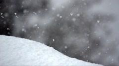 Snowfall in Gran Paradiso National Park Stock Footage