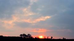 Sunset timelapse Stock Footage