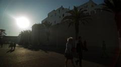Essaouira morocco coast town tourist fort medina Stock Footage