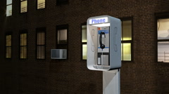 A 3D animation of a coin operated pay phone Stock Footage