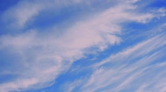 Cirrus clouds, time lapse - stock footage