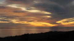 Santa Barbara California Pacific Ocean Sunset 4 Stock Footage
