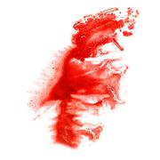 Stock Illustration of stain with red watercolour paint stroke watercolor  isolated