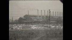 Steel Mill Gary Indiana Stock Footage