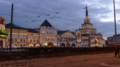 Kazansky train terminal Stock Footage
