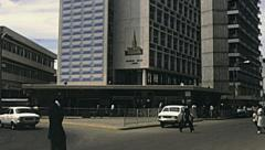 Kenya 1981: traffic in Nairobi. Stock Footage
