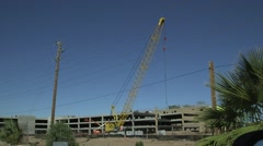 Large construction crane Stock Footage