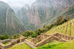 Machu Picchu Terraces and Andes Stock Photos