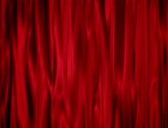 Red draped curtain Stock Footage