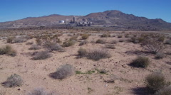 Distant Cement Factory- Oro Grande California Stock Footage