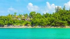 Luxury Beach Resort Hidden amongst the Trees Stock Footage