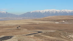 Great Salt Lake Utah Antelope Island in Winter Stock Footage