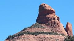 Penis Head Shaped Mountain Sedona Arizona Stock Footage