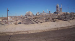Large Cement Factory In Oro Grande California Stock Footage