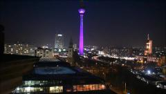 Berlin City at night Stock Footage