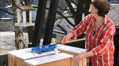 Painting furniture Stock Footage