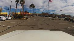 Driver In Tanger Outlet Center Parking Lot- Barstow CA Stock Footage