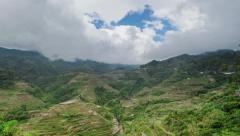 Traveling to Philippines. Famous Banaue rice terraces in Ifugao Stock Footage