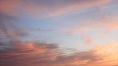 Orange color clouds Stock Footage