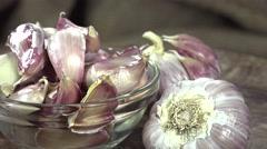 Fresh Garlic (seamless loopable) Stock Footage