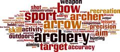 Archery word cloud Stock Illustration