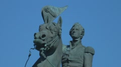 Close Up of the Jackson Statue at Jackson Square in New Orleans Stock Footage