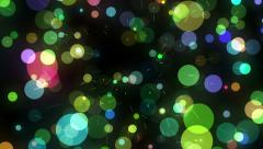 Many Motion Multicolored Round Shapes in Chaotic Arrangement Stock Footage