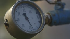 Gas gauge reading Stock Footage