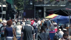 People at Jackson Square in New Orleans 02 Stock Footage