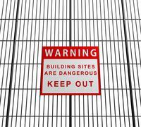 Building sites are dangerous Stock Illustration