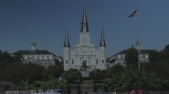 Jackson Square in New Orleans 03 with Flat Color Profile Stock Footage