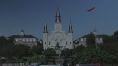 Jackson Square in New Orleans 07 with Flat Color Profile Stock Footage