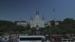 Jackson Square in New Orleans 04 with Flat Color Profile Stock Footage