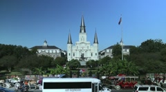 Jackson Square in New Orleans 02 Stock Footage