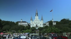 Jackson Square in New Orleans 01 Stock Footage