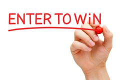 Enter to Win Red Marker Stock Illustration