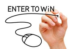 Enter to Win Mouse Concept Stock Illustration