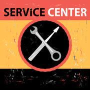 Service Center Retro Stock Illustration