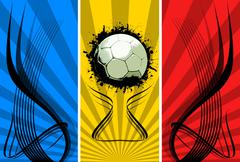 Stock Photo of Three color Grunge Soccer backgrounds
