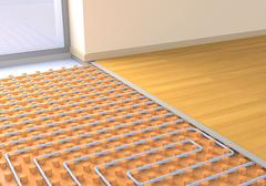 Floor heating system Stock Illustration